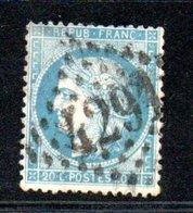 France / N 37 / 20 Centimes Bleu / Oblitéré / Côte 15 € - 1870 Siège De Paris