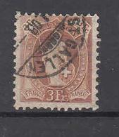 1907  N°100B  OBLITERE      COTE 100 FRS  VENDU à 15%    CATALOGUE ZUMSTEIN - Zwitserland