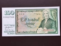 ICELAND P54A 100 KRONUR 1986 UNC - IJsland