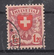 1940  N°164Y  OBLITERE      COTE 110 FRS  VENDU à 15%    CATALOGUE ZUMSTEIN - Suisse