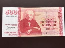 ICELAND P58 500 KRONUR 2001 UNC - Iceland