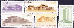 Korea (Nord North) - Gebäude In Pjöngjang (MiNr: 1216/20) 1973 - Gest Used Obl - Korea, North