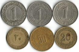 Lot De 6 Pièces De Monnaie  20 -50 Centimes  Et 1 Dinar - Algeria