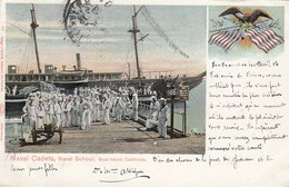 USA - CP 1906 - NAVAL CADETS - NAVAL SCHOOL - GOAT ISLAND CALIFORNIA - SAN FRANCISCO TO TOULON FRANCE  /1 - Unclassified