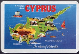 Cyprus Pack Of Playing Cards Showing Island View Unopened In Mint Condition. - Playing Cards (classic)