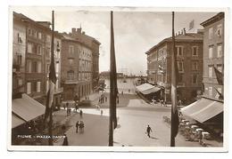 CARTOLINA DI FIUME - RIJEKA , PIAZZA DANTE , 1934 . - Kroatië