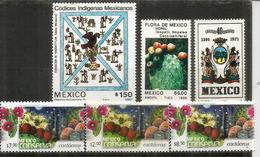 Cactus & Cactaceas,    6 Timbres Neufs ** Du Mexique, Différentes Faciales - Cactus