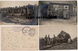Eisenbahn, Lokomotive, Streckenbau, Militär Eisenbahn Direktion Schaulen, Beisagola, 7 Foto Postkarten Um 1916, Litauen - Trains