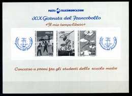 ERINNOFILIA / Foglietto B/N XIX Giornata Del Francobollo - Erinnofilia