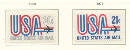USA 1968-1971. Air Mail Scott # C75 + C81. USA And Jet. MNH(**) - 3b. 1961-... Unused