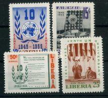 LIBERIA  (  AERIEN  ) : Y&T N°  91/94  TIMBRES  NEUFS  SANS  TRACE  DE  CHARNIERE . - Liberia