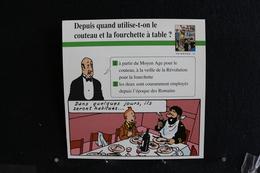Fiche Atlas,TINTIN (extrait De,L'Étoile Mystérieuse)-Corps Humain,N°12  Depuis Quand Utilise-t-on Le Couteau à Table ? - Collections