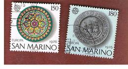 SAN MARINO - UNIF. 967.968  - 1976 EUROPA  (SERIE COMPLETA DI 2)     -  USATI (USED°) - Saint-Marin