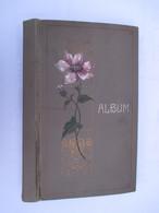 ALBUM CARTES POSTALES ANCIENNES Vide (V1801) Dim : 25 X 38 Cm (4 Vues) Contenance : +/- 750 Cp Art Déco / Art Nouveau - Matériel