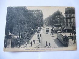 PARIS (IX ème Arrondissement) : TRAMWAY RUE LAFAYETTE - SQUARE MONTHOLON  - CPA Occasion En Bon état - Voir Les 2 Scans - Public Transport (surface)
