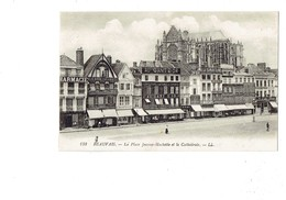 Cpa - 60 - Beauvais - Place Jeanne Hachette - Magasin AU GANT D'OR - A LA SAMARITAINE - CYCLES PEUGEOT échafaudage - Beauvais