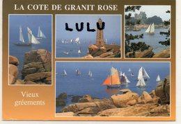 DEPT 22 : édit. Jos Le Doare N° 24163 : La Cote De Granit Rose , Vieux Gréements ( Flamme De Paimpol ) Multivues - Non Classés