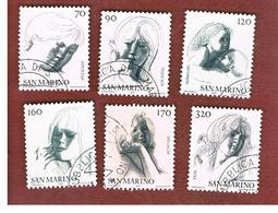 SAN MARINO - UNIF. 980.985  - 1977 VIRTU' CIVILI: ALLEGORIE DI E. GRECO  (SERIE COMPLETA DI 6)    -  USATI (USED°) - Saint-Marin