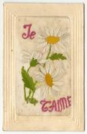 "CPA Brodée Fantaisie ""Je T'aime"" - France"