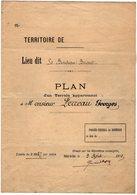 VP13.008 - Plan D'un Terrain Appartenant à Mr G. FERREAU - Lieu Dit Le Bordeau Brisset - Géomètre à NOISY - LE - SEC - Planches & Plans Techniques