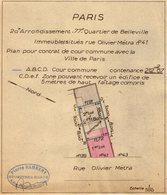VP13.009 - PARIS - 2 Plans D'Immeubles Situés Rue Olivier Métra N° 41 - Géomètre Mr P. RAMBERT à MEAUX - Planches & Plans Techniques
