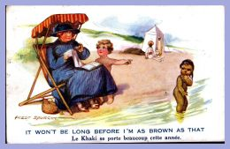 Post Card - Seaside Series (Fred Spurgin) - 442. It Won't Be Long Before I'mas Brown As That - Künstlerkarten