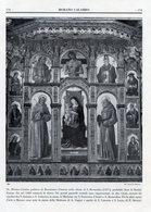 Morano Calabro - Fotoincisioni POLITTICO DI BARTOLOMEO VIVARINI NELLA CHIESA DI SAN BERNARDINO + ALTRE - Prints & Engravings