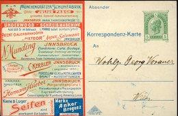 38407 Austria,private Advertising Card 5h.circuled/werbung Card Gelaufen 5h.kommerzielle Aktivitäten In Innsbruck RR - Briefe U. Dokumente