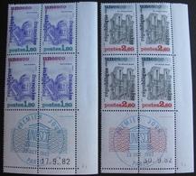 R1624/327 - 1982 - SERVICE - UNESCO - N°71 à 72 - 2 BLOCS NEUFS** CdF Daté ➤➤➤ CACHET BLEU 1er JOUR OFFERT - Nuevos