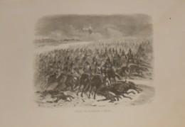 Charges De Cuirassiers à Eylau. 1839 - Estampes & Gravures