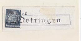 Fragment De Oeutrange (Oetringen Tampon 300) TP Lothr N°484 4pf (Imprimé) Le 24Okt1940 - Marcofilia (sobres)