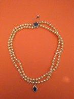 Collier Ancien De Perles De Culture 18cm - Colliers/Chaînes