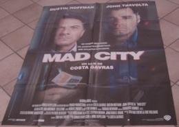 AFFICHE CINEMA ORIGINALE FILM MAD CITY COSTA GAVRAS TRAVOLTA Dustin HOFFMAN 1997 TBE - Posters