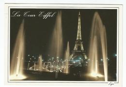 Paris. La Nuit - La Tour Eiffel Et Les Jets D'eau Du Trocaderò. 1993 - Tour Eiffel