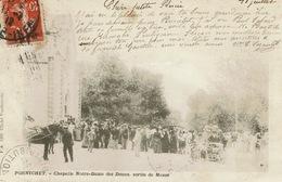 Pornichet, Chapelle N-D Des Dunes, Sortie De Messe   Carte Peu Courante - Pornichet