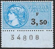 Fiscal  1939-87  - N°  437  - NEUF** Bas De Feuille - Fiscaux