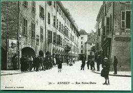 REPRODUCTION 74 Annecy Rue Notre Dame ( Sur Un Mur Pub Pour Absinthe, Vélo Ou Moto Grillon ) - Annecy