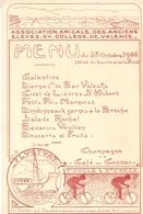 Menu : Association Amicale Des Anciens Eleves Du Collège Et Lycee De Valence (drome) - Menus