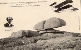 BOUSSAC SOUVENIR DES PREMIERES JOURNEES D'AVIATION DANS LA CREUSE 23 ET 24 AVRIL 1911 J. DAILLENS VOLE SUR LES PIERRES J - Boussac