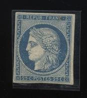 25c  Yv. N° 4 Reimpression   Cote 600,- Euros - 1849-1850 Ceres