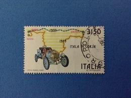 1989 ITALIA FRANCOBOLLO USATO STAMP USED - ITALIA IN CORSA PARIGI PECHINO - - 6. 1946-.. Repubblica