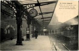 75 Paris Inondations 1910 Gare De Courcelles-Levallois - Paris Flood, 1910
