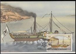 755c S. Tomé E Principe 1984 Navi A Vapore Maximum Card  Friedrich Wilhelm (1827) Steamers Maxi - Sao Tomé E Principe