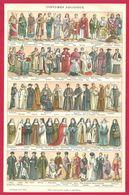 Costumes Religieux, Costume Antique, Catholique, Protestant, Juif Et Plus, Illustration Laubadère, Larousse 1908 - Autres