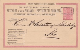 ENTERO ENTIER POSTAL STATIONERY CIRCULEE YEAR 1888 FINLAND- BLEUP - Enteros Postales