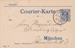 ENTERO ENTIER POSTAL STATIONERY CIRCULEE YEAR 1906 GERMANY- BLEUP - Enteros Postales