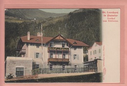 OLD POSTCARD   ITALY - ITALIA - ST. LEONARD - GASTHOF ZUM EDELWEISS - 1900'S - Bolzano (Bozen)