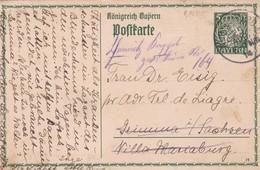 ENTERO ENTIER POSTAL STATIONERY CIRCULEE YEAR 1906 GERMANY- BLEUP - Deutschland