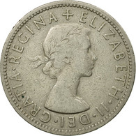 Monnaie, Grande-Bretagne, Elizabeth II, Florin, Two Shillings, 1957, TB+ - 1902-1971 : Monnaies Post-Victoriennes