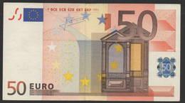 RARE 50 EURO S ITALIA  J016  - TRICHET   CIRCULATED - EURO
